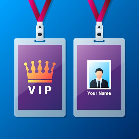 Lanyard Design Example Vip Pass Templates