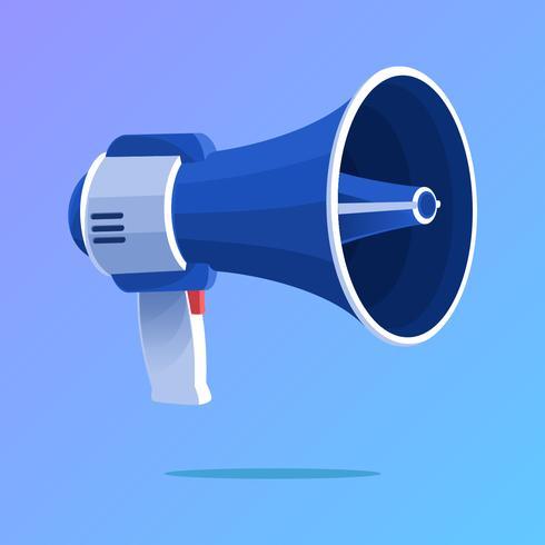 blauwe megafoon vector