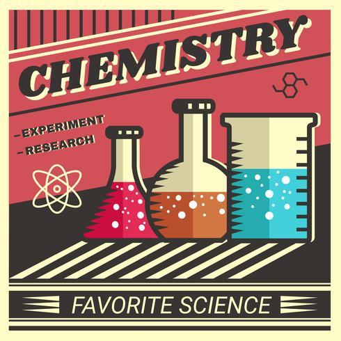 Vector de cartel retro química