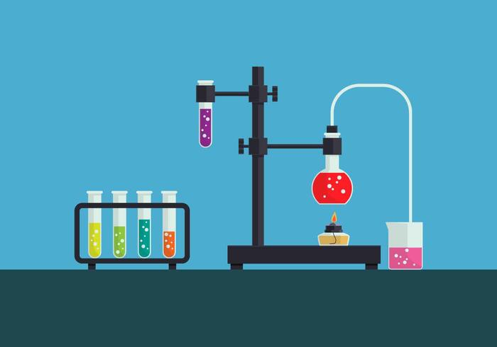 Ilustração vetorial de química