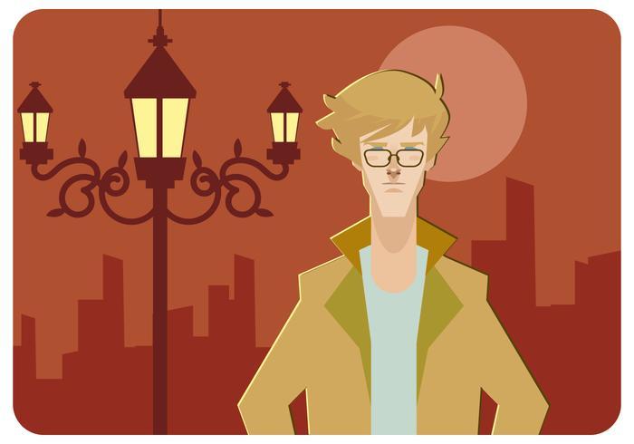 vector de hombres cool hipster