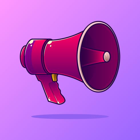 Vetor de megafone dos desenhos animados