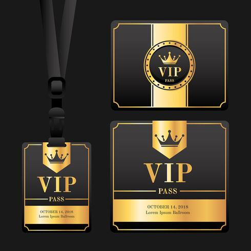 Vecteur de carte de passe VIP