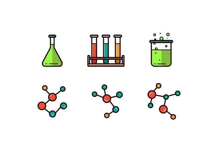 Vecteur d'icône de chimie