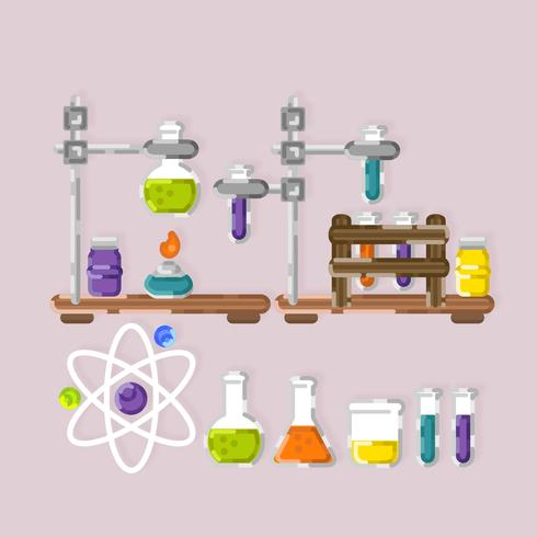 Vector colorido conjunto de química