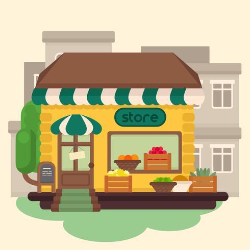 vector de la tienda de comestibles