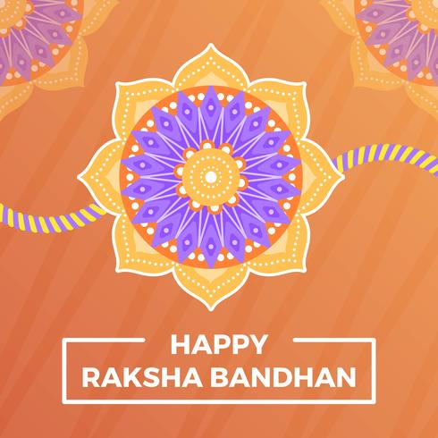 Flat happy rakhi greetings with mandala background vector flat happy rakhi greetings with mandala background vector illustration m4hsunfo