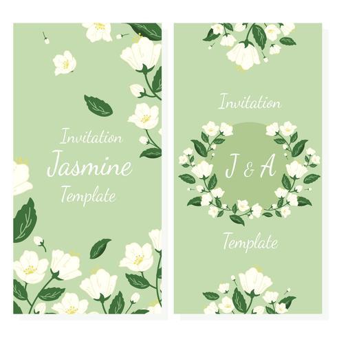 Uitnodiging met jasmijn