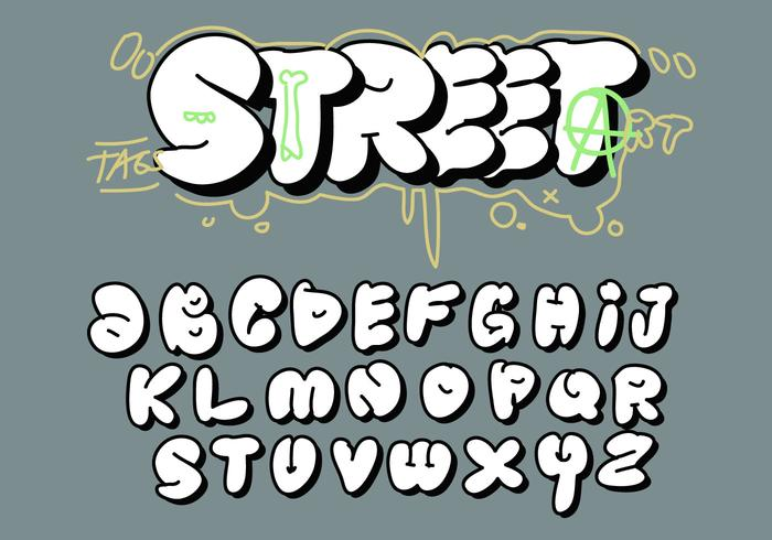 Alphabet Tag big fat bubble letter tag graffiti alphabet vector - download free
