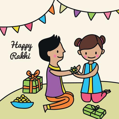 Gullig Glad Rakhi Doodle
