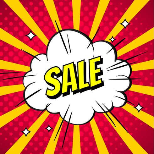 Sale Explosion Pop Art Vector