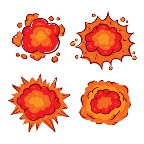 Mano dibujado vector de explosión