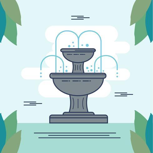 Fountain Illustration Vector