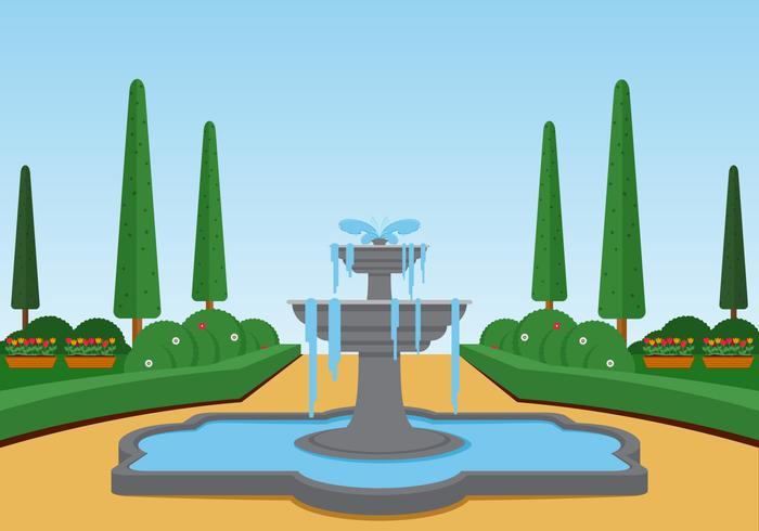 Ilustración de Vector de paisaje de fuente