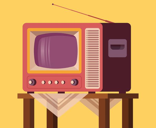 Retro televisie set