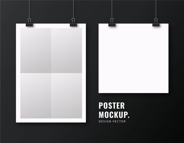 White Poster Mockup Template