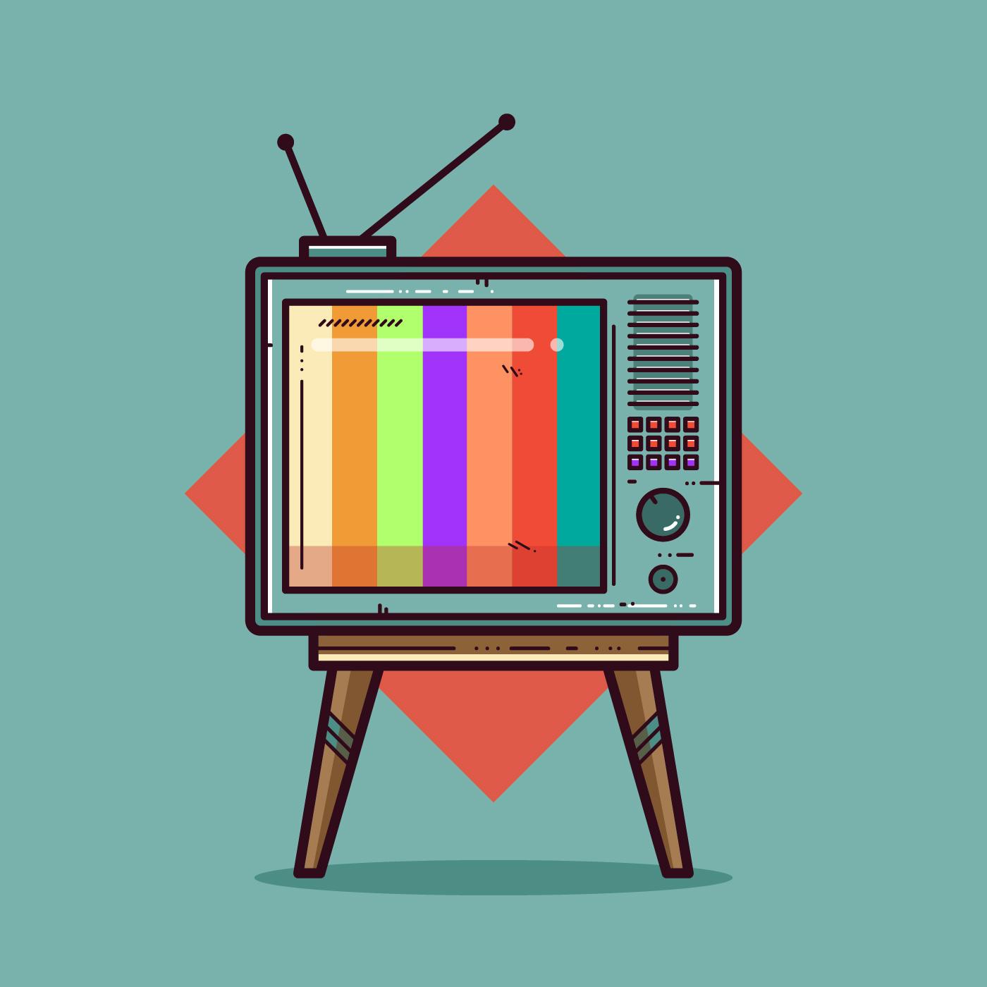 Retro Television Set Vector