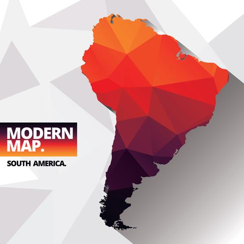 Modern South America Map vector