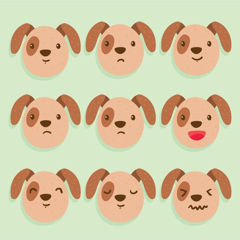 Vecteur de Brown Dog Emotions