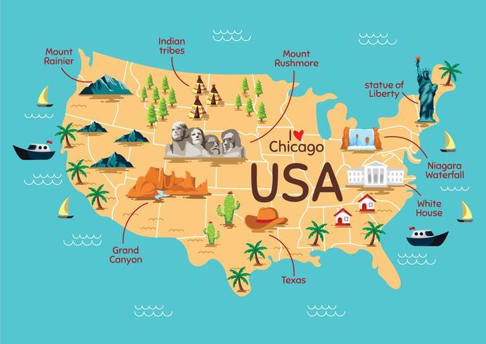 Mapa de referencia de los Estados Unidos
