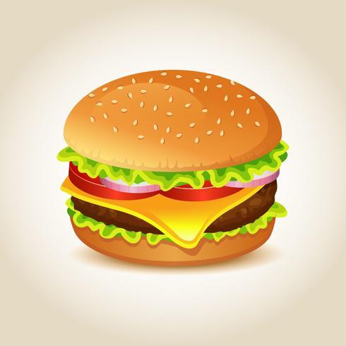 Vector realista hamburguesa