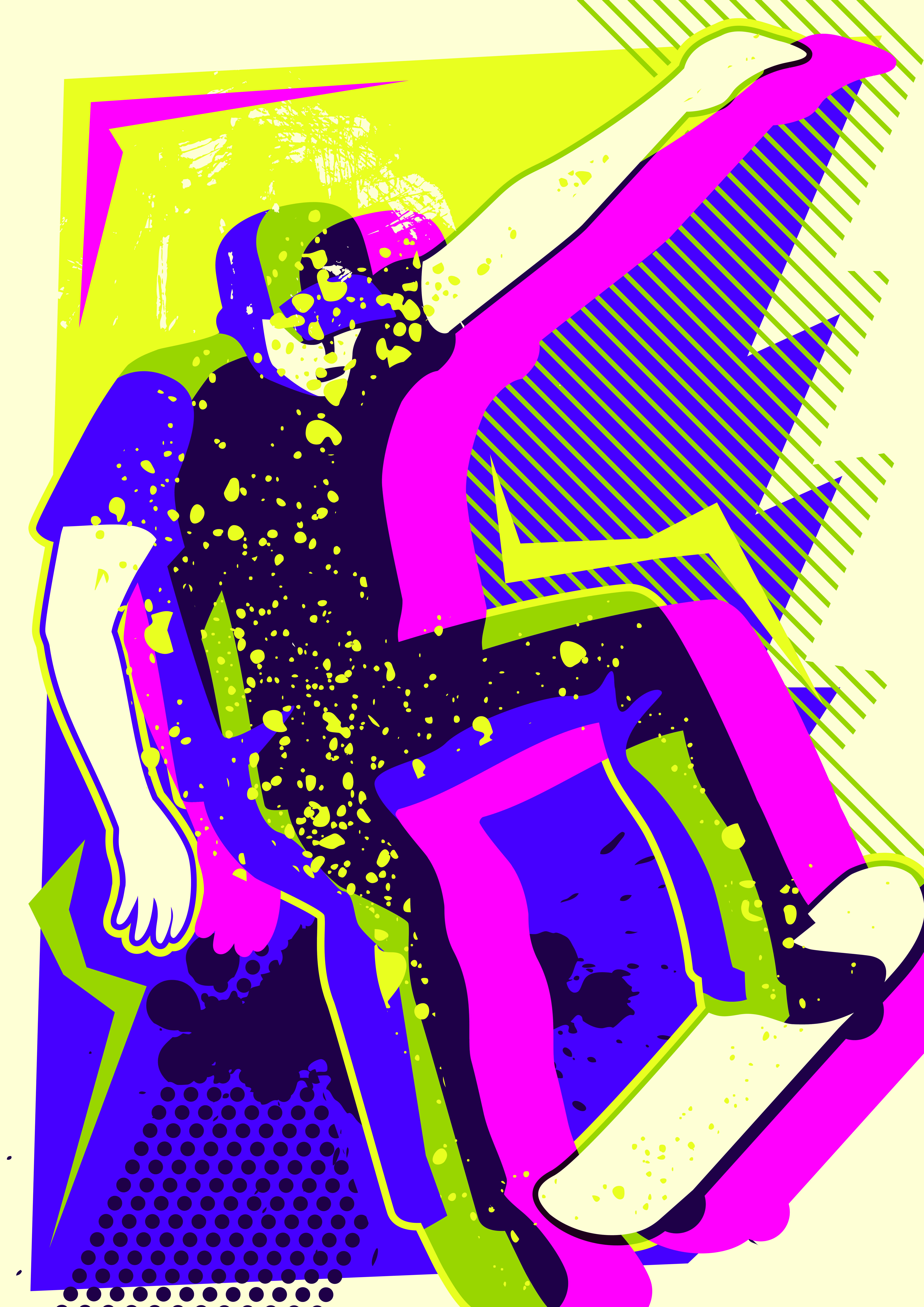 Roller Skate Sneakers >> Skateboard Pop Art - Download Free Vectors, Clipart ...
