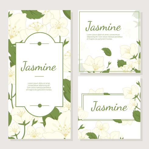 Einladungskarte mit Jasmine Flower Vector