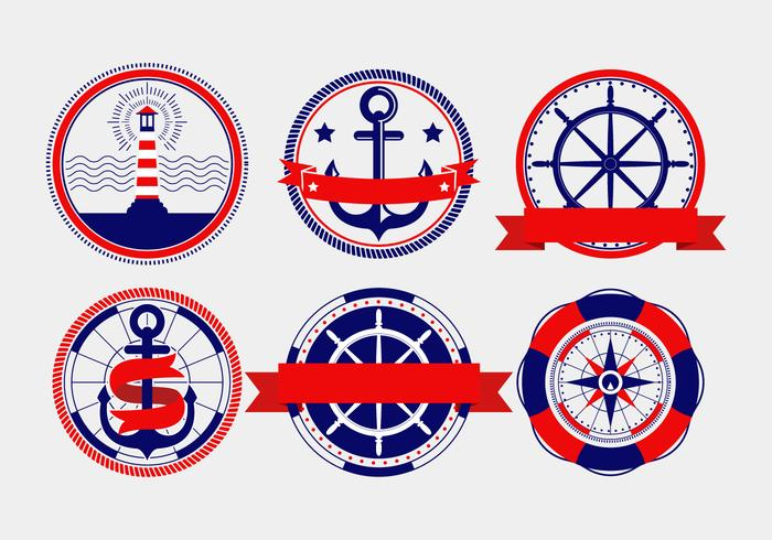 Nautical Vector Badges