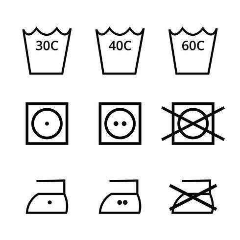 Pack de vecteur de symbole de lavage