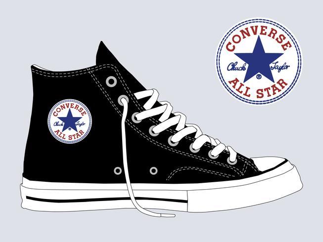 Modelo de vetor Converse Chuck Taylor All Star