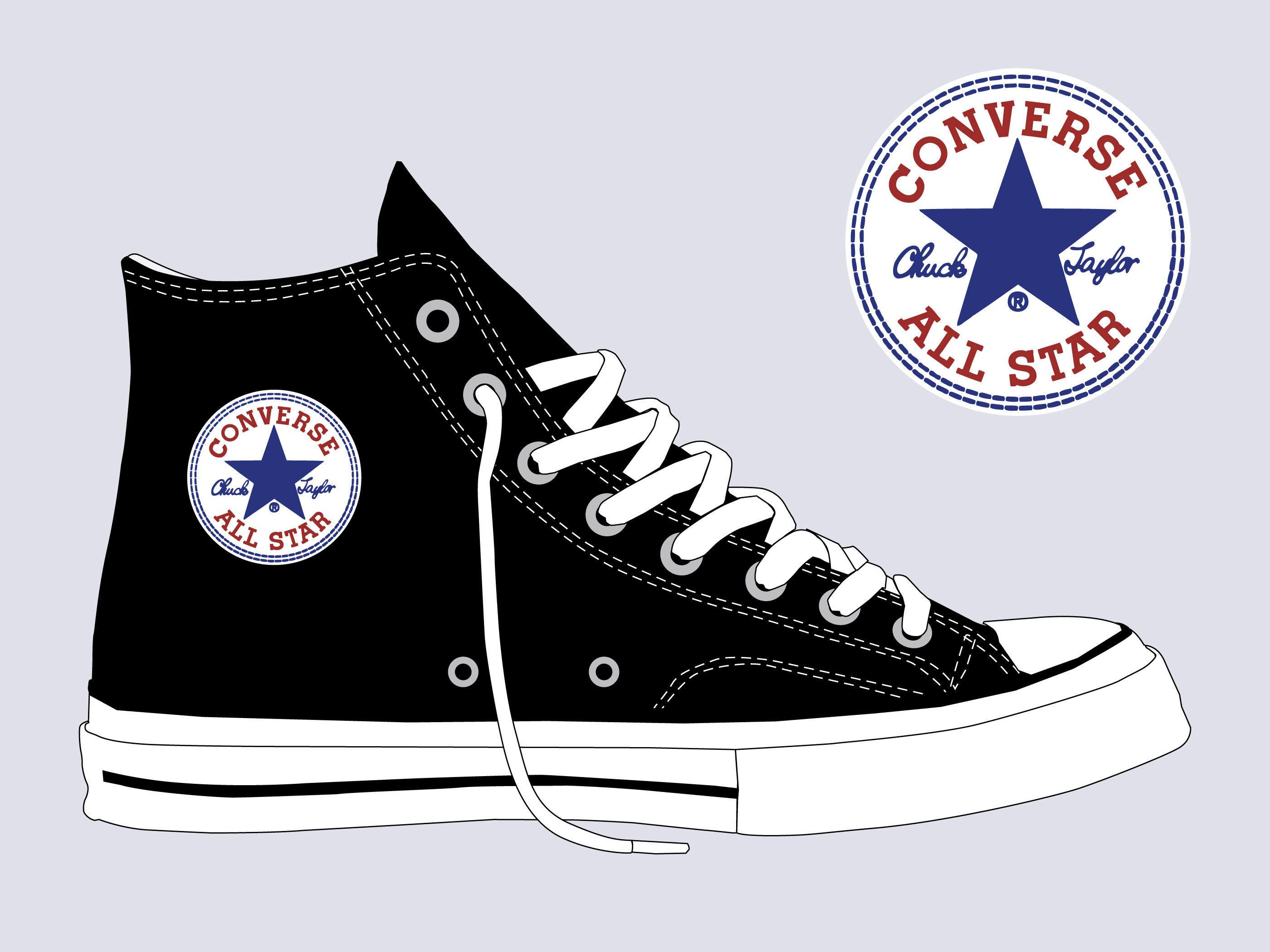 13ef96c536 Converse Shoes Free Vector Art - (6220 Free Downloads)