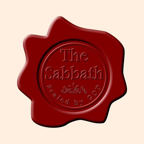 Sceau de cire de vecteur le sabbat