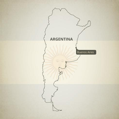 Free Vector Map of Argentina