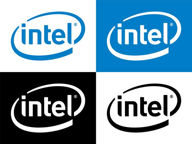 Vecteur de logo Intel