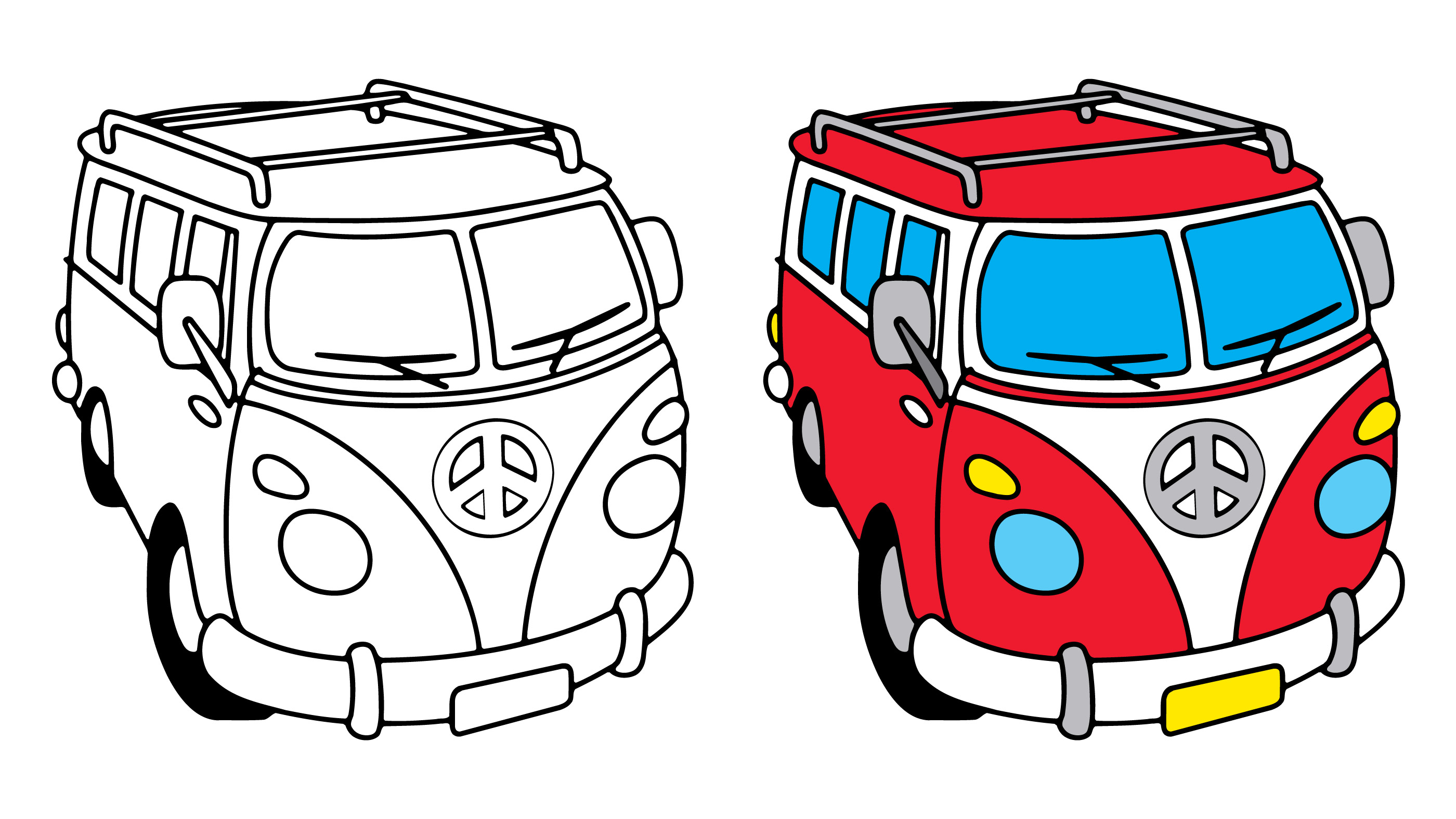 vw bus   vector art stock graphics images