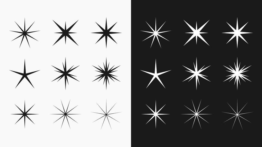 Sterne und glänzt Vektor