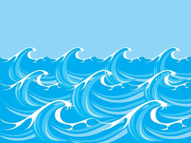 Vecteur de vagues océan / mer