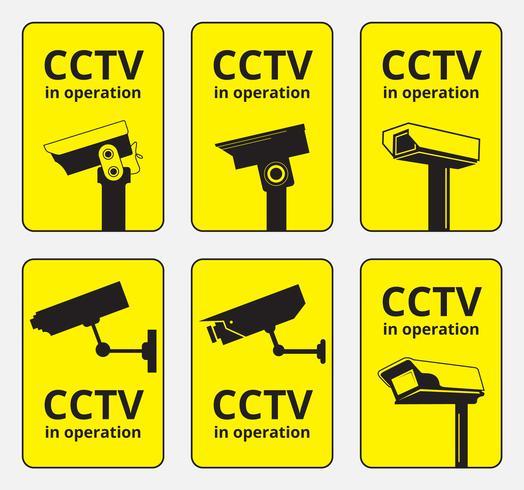 Gráficos vectoriales de cámaras CCTV