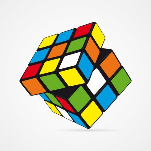 Cubo de Rubik do vetor