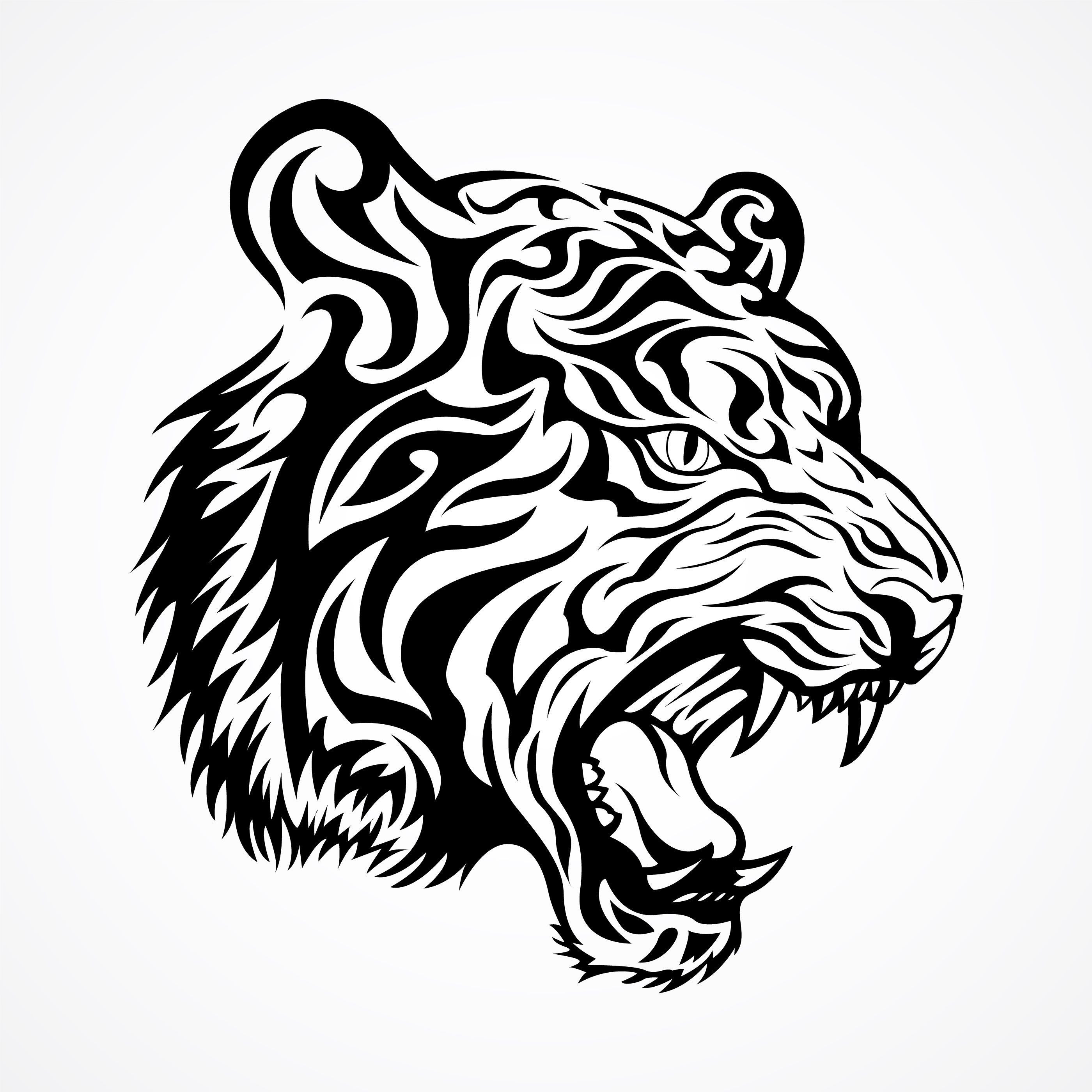 Tribal Tiger Vector Download Free Vectors Clipart