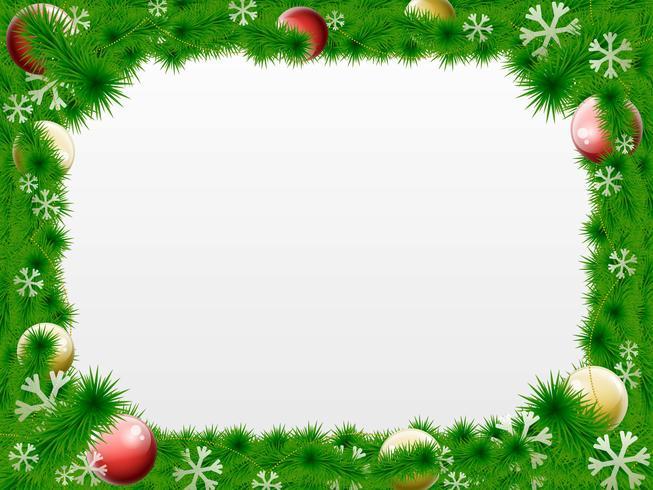 Christmas Wreath Vector Border