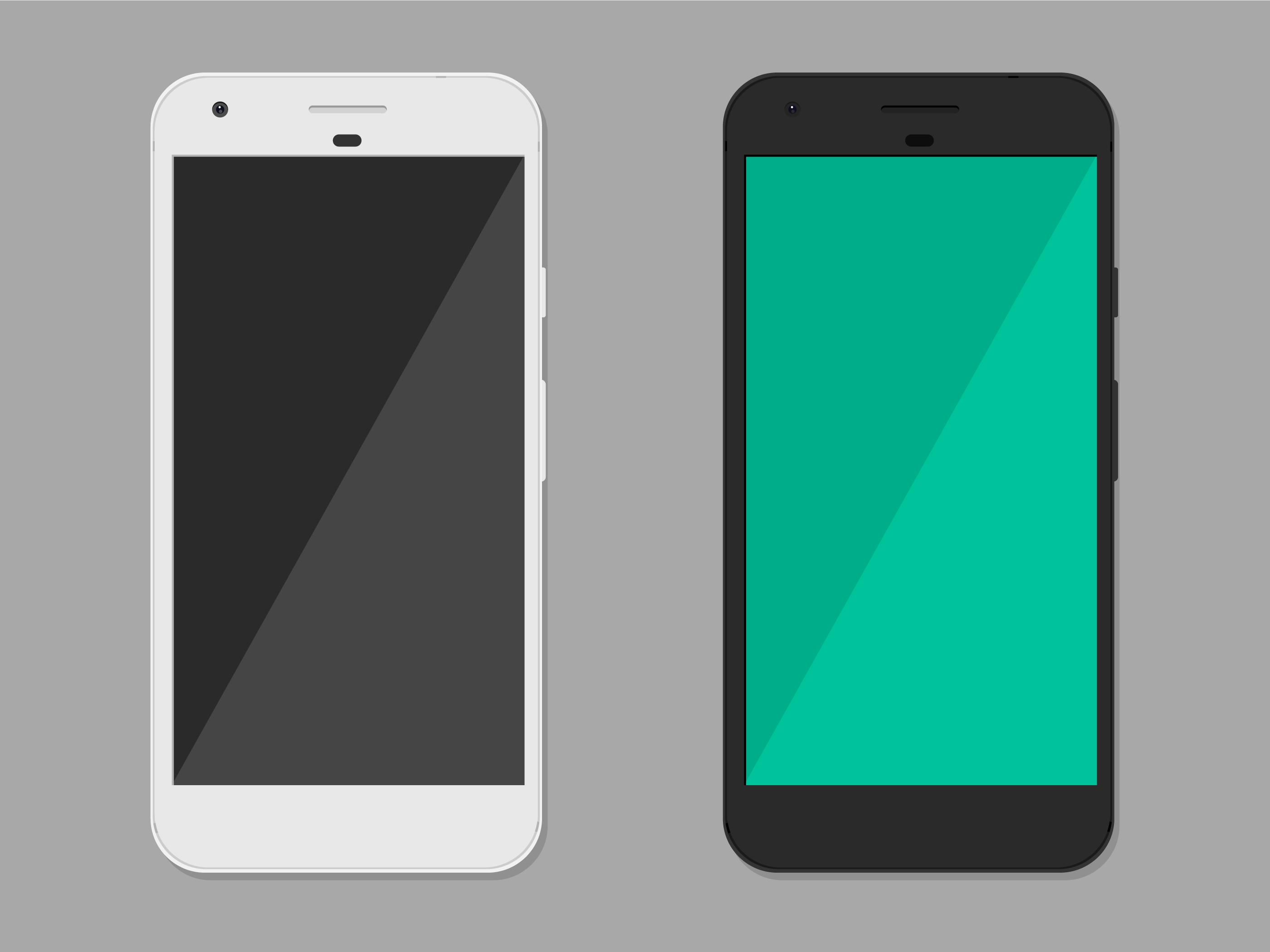 Google Pixel Smartphone Mockup Free Vector Art