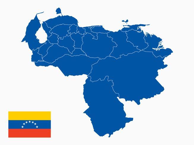 Vecteur de carte du Venezuela