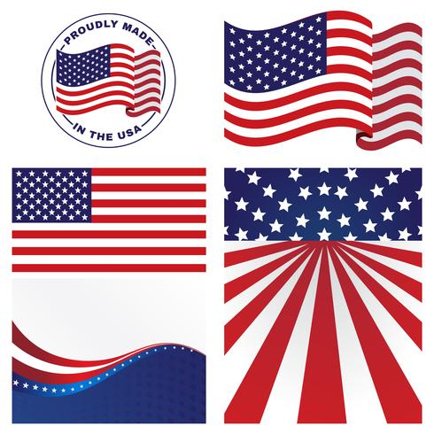 f2b67511aba4 US Flags Vectors - Download Free Vector Art