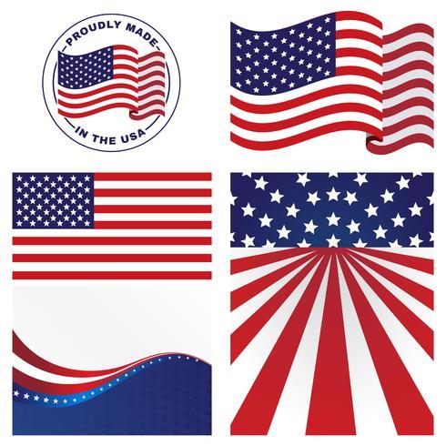 Vecteurs de drapeaux américains