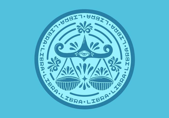 libra zodiac badge