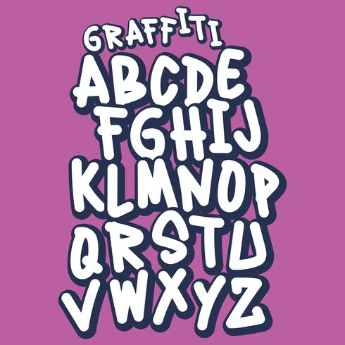 Handgemachte Street Style Graffiti Schriftart