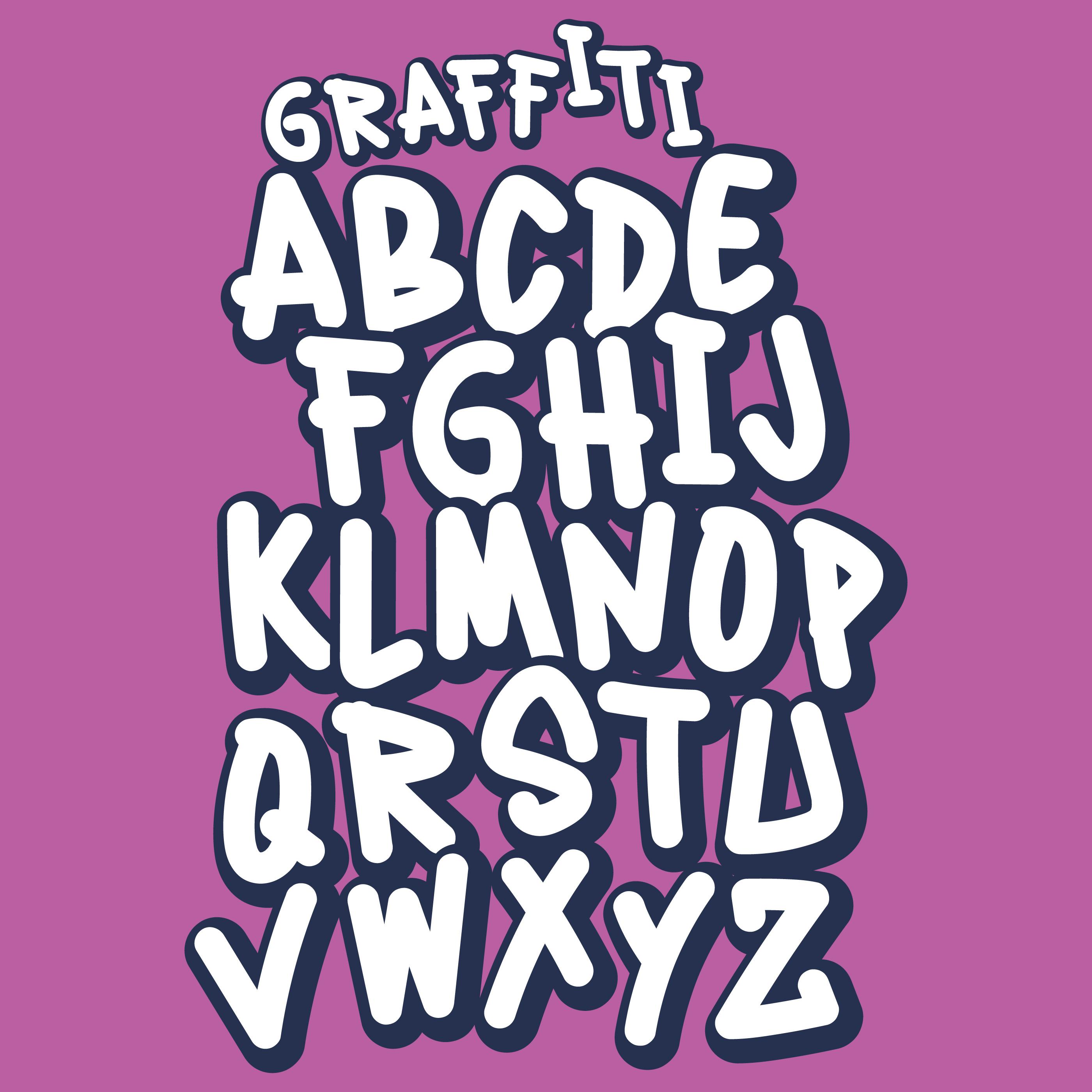 Handmade street style graffiti font download free vector art stock graphics images