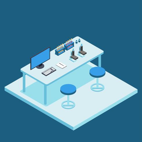 Isometrischer Laborvektor