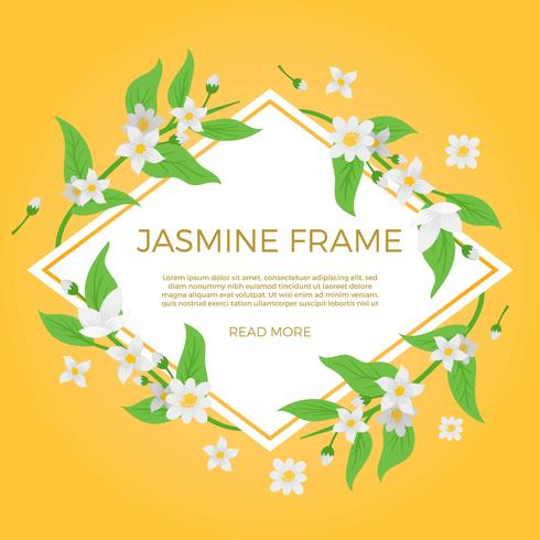 Flacher Jasmine Flower Background Template Vector